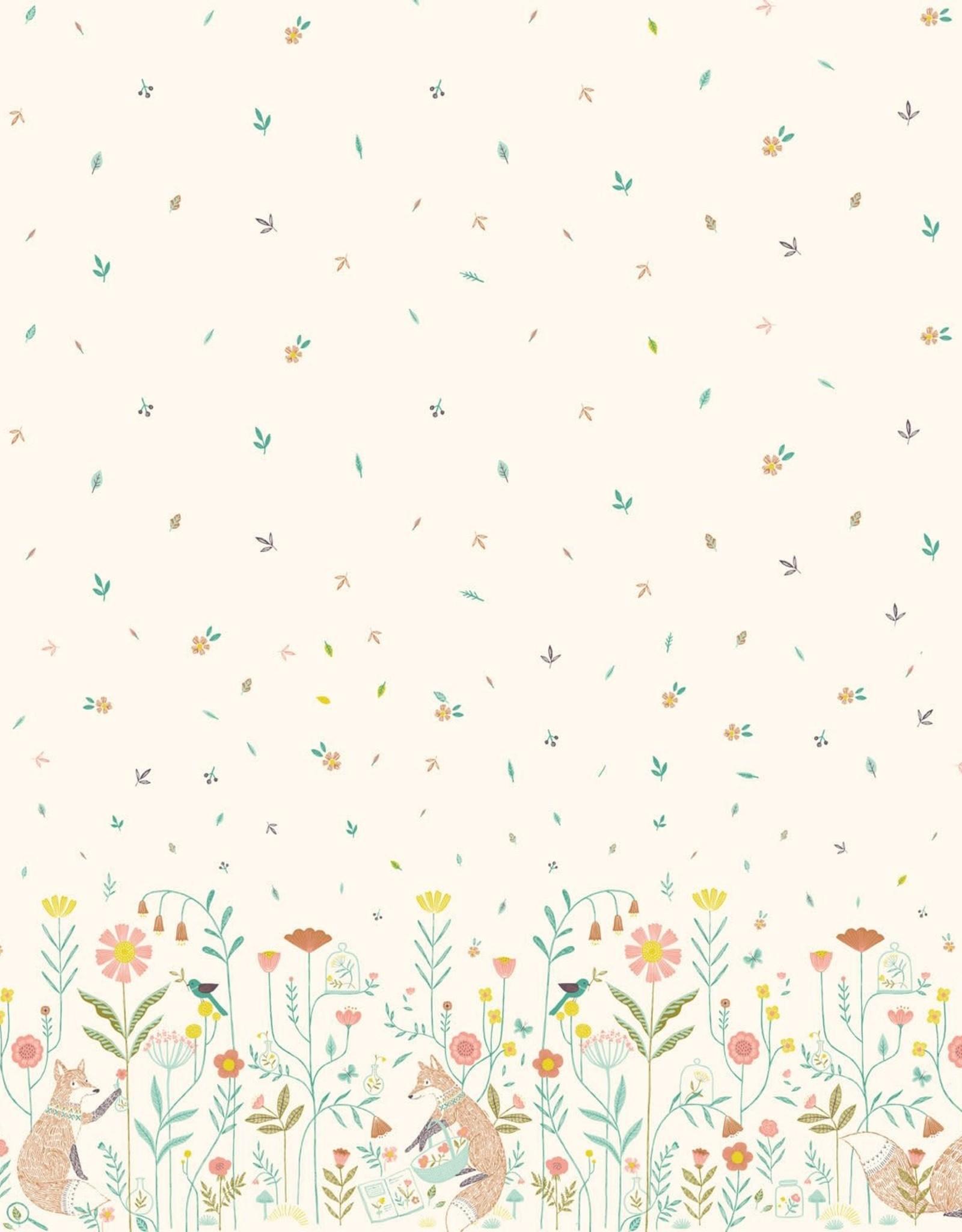 Katia Katia Fabrics katoen Botanist Foxes paw109
