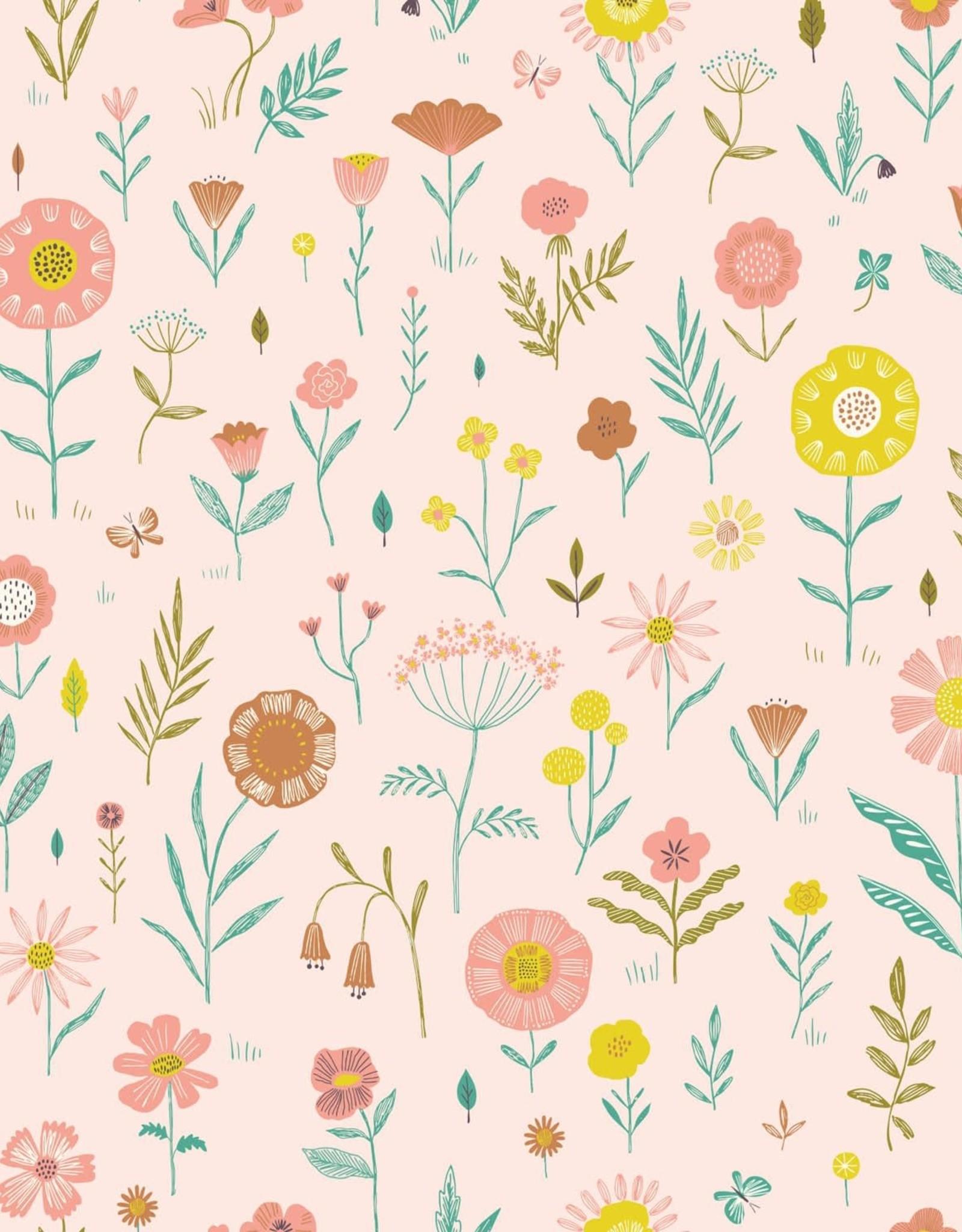 Katia Katia Fabrics katoen Botanist Flowers paw110