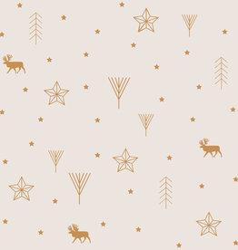 Katia Katia Fabrics Cotton Canvas Gold Xmas Time CCG 2