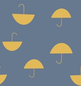 Katia Katia fabrics Soft French Terry Print Umbrellas Tourmaline sftp 1
