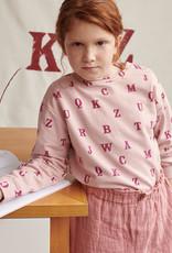 Katia Katia  fabrics Soft French Terry Print Typo Make-Up Pink SFTP 4