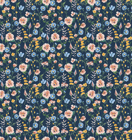 Poppy Poppy Jersey digital Flowerfield GOTS