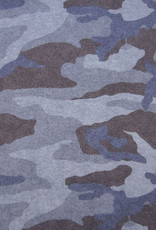 Poppy Poppy sweat Camouflage blauwe tinten