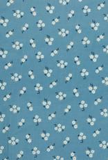 Poppy Poppy Baby Cord small flowers lichtblauw