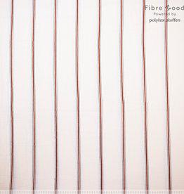 Fibre Mood Fibre Mood editie15 Hydrofiel Strepen ecru met rood ( Mae. Lou . Cory)