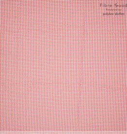 Fibre Mood Fibre Mood editie 15 viscose/katoen kleine vichy ruitjes rood (Viola. ezra. Belle)