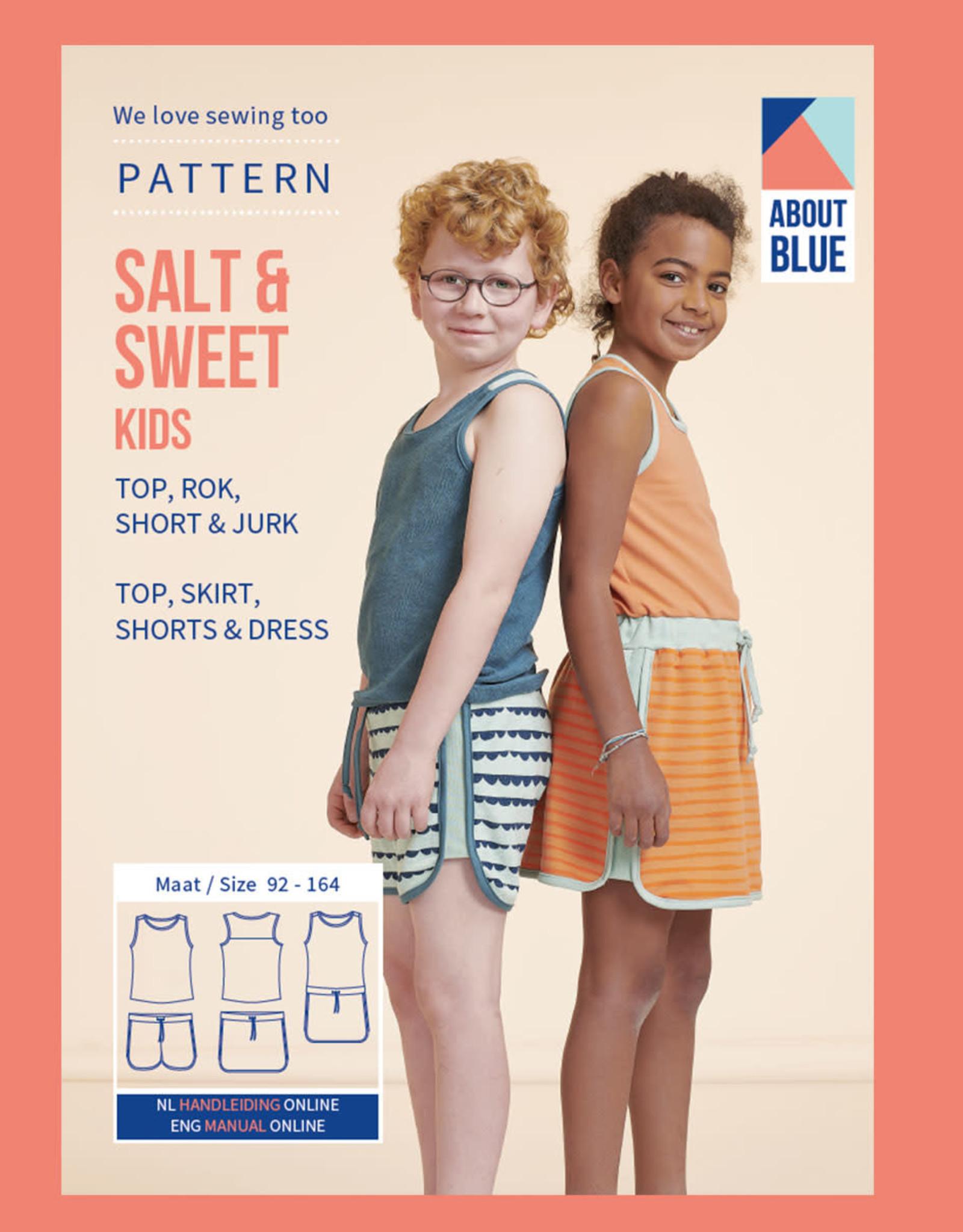 About Blue About Blue papieren naaipatroon Salt en Sweet Kids