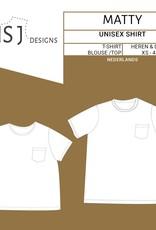 Wisj Wisj Naaipatroon Matty shirt voor volwassenen (unisex)