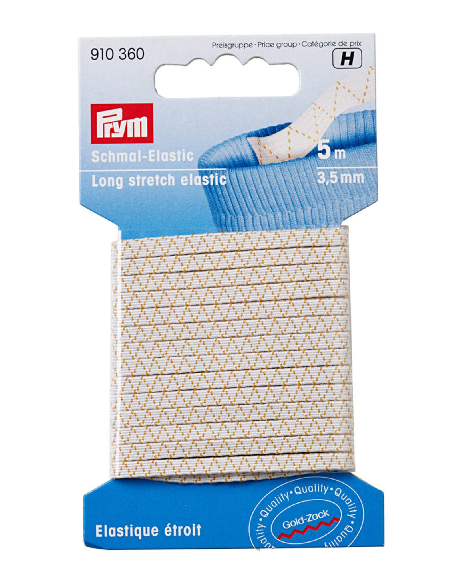 Prym Prym Standaard elastiek 3.5 mm wit  5 m