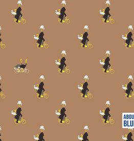 About Blue About  Blue French Terry Zoo On Wheels Indian Tan