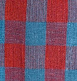 Katia Katia Fabrics Mousseline Vichy Turquoise en Cayenne
