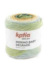 Katia Katia merino baby degradé 301 - Groen-Licht hemelsblauw-Oranje