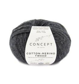 Katia Katia Cotton-merino tweed 503 - Donker grijs