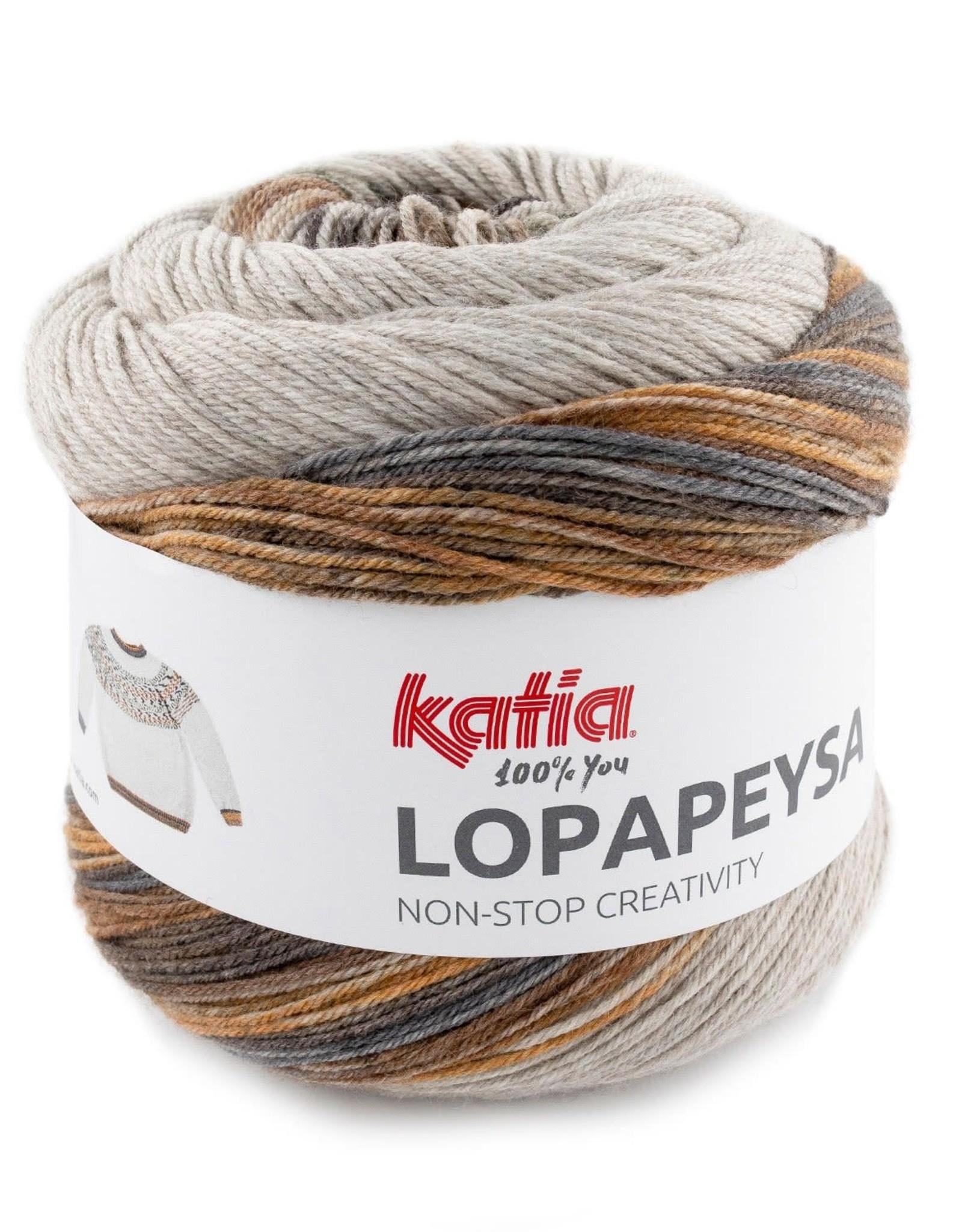 Katia Katia Lopapeysa 100 - Bruin-Kaki-Oker