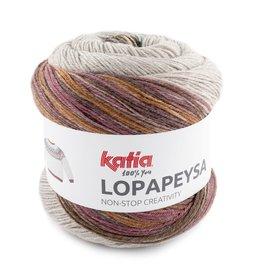 Katia Katia Lopapeysa  103 - Parelmoer-lichtviolet-Groenblauw-Bruin
