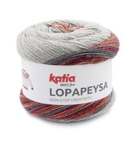 Katia Katia Lopapeysa  202 - Rood-Zwart-Roestbruin