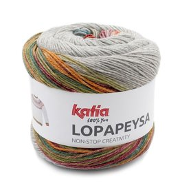 Katia Katia Lopapeysa 203 - Groen-Geel-Blauw-Rood