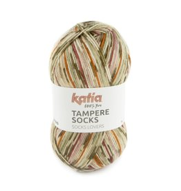 Katia Katia Tampere Socks 101 - Reebruin-Rood-Oranje-Kaki