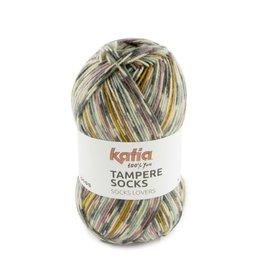 Katia Katia Tampere Socks 104 - Grijs-Bleekrood-Blauw-Geel