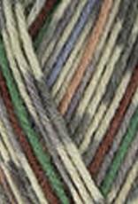 Katia Katia Tampere Socks 105 - Grijs-Wijnrood-Smaragdgroen-Licht jeans