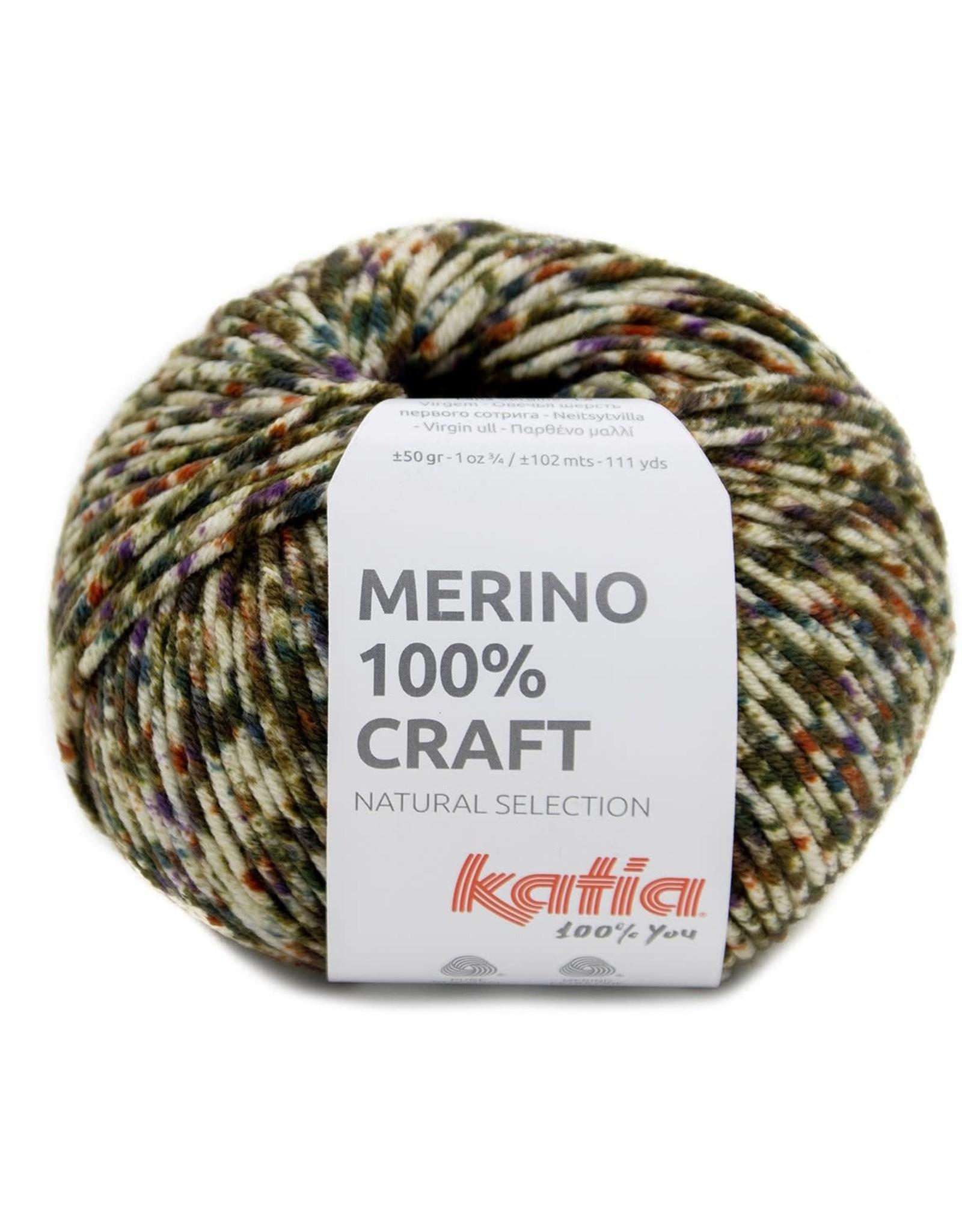 Katia Katia merino 100 % craft 204 - Groen-Lila-Terrabruin
