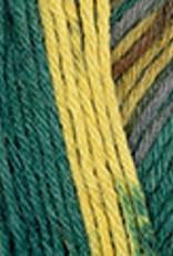 Katia Katia Jacquard Symmetric Socks 97 - Groen-Oker-Roestbruin