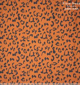 Fibre Mood Fibre Mood ed 16  Woven Denim Leopard print zwartbruin (Alida)