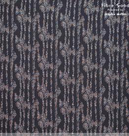 Fibre Mood Fibre Mood ed 16  Woven viscose dots blauwzwart (Betsy)