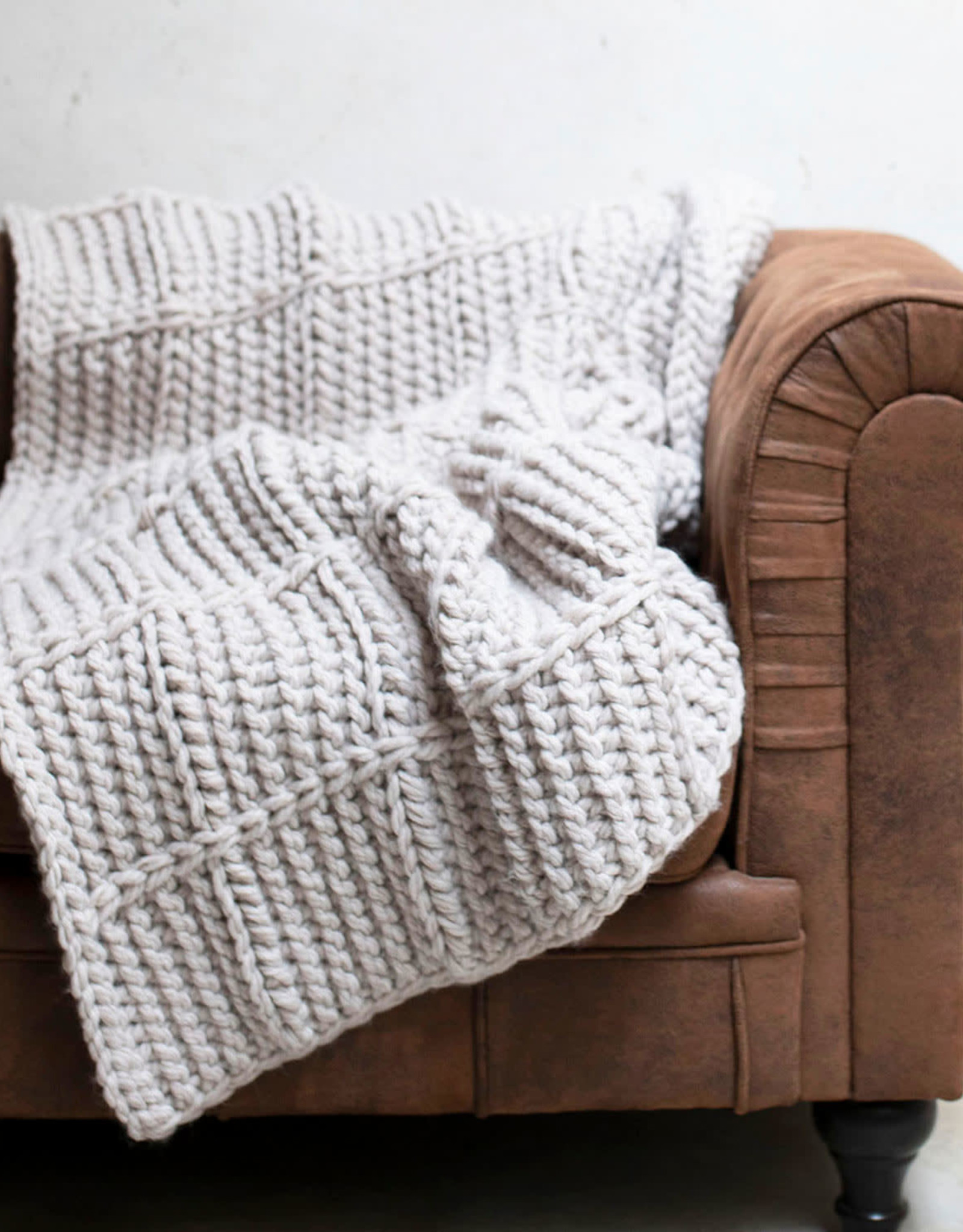 Katia Katia Haakpakket voor een geblokte XXL deken van Alimaravillas