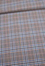 Editex Fabrics Editex Chanel Check ruiten beige/donkerblauw