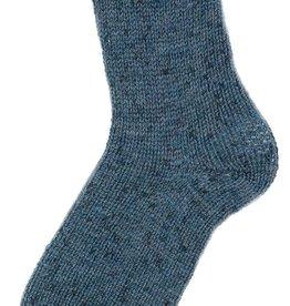 Fortissima Fortissima color kousenwol tweed effect 150 g blauw met spikkel