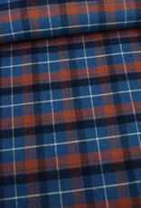 Editex Fabrics Editex Rusty Check  blauw/roest
