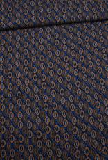 Editex Fabrics Editex Tabac Retro  zwart/koper/blauw