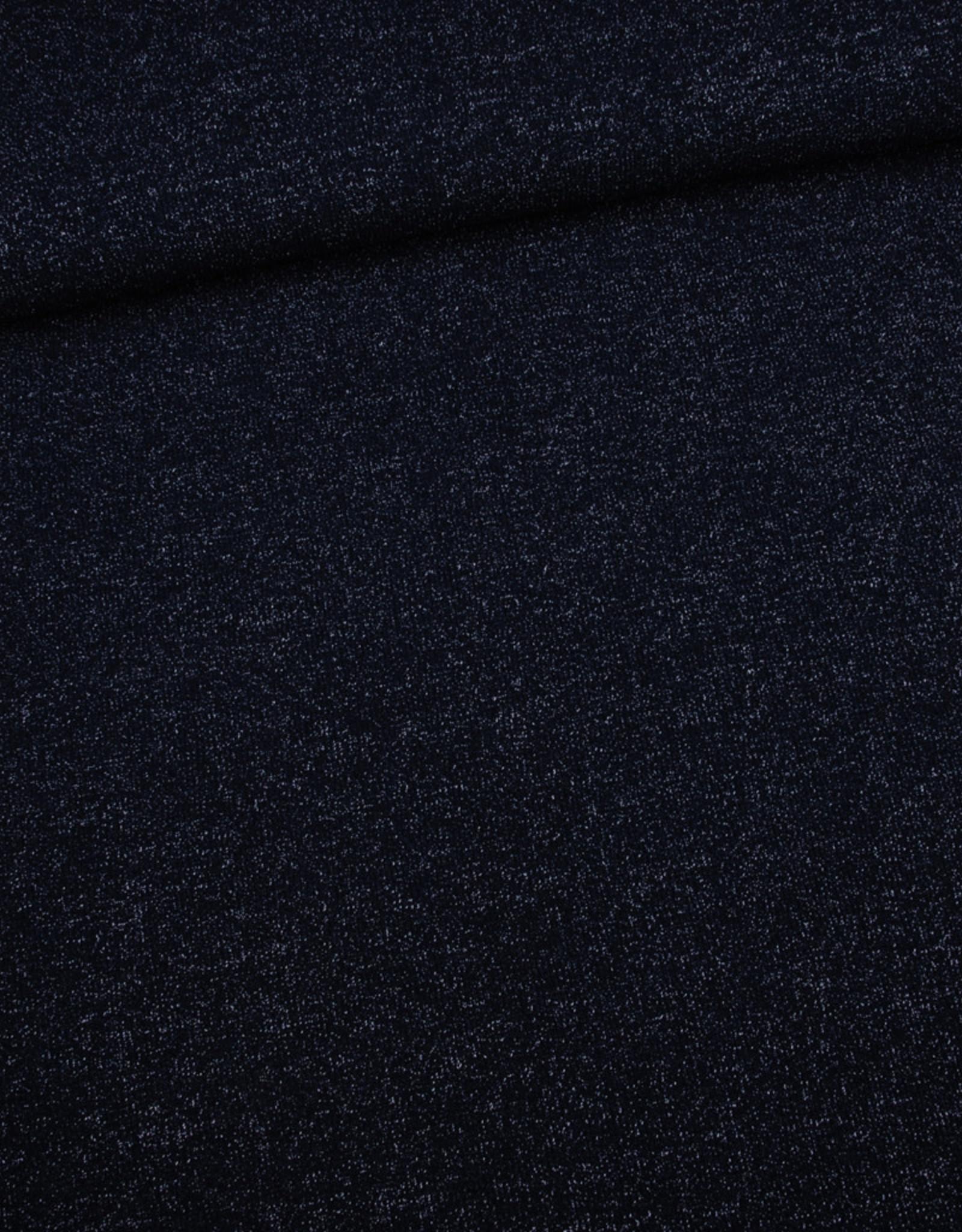 Editex Fabrics Editex Knitted Lurex donkerblauw met glitter