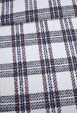 Editex Fabrics Editex Woven Check ecru met bruin/zwarte ruiten