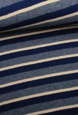 Editex Fabrics Editex Cosy stripes gebreide sweaterstof blauw-grijs-ecru