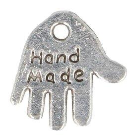 Bedel  hand made zilveren handje 1.5 cm groot