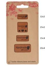 Label Skai leren handmade with love