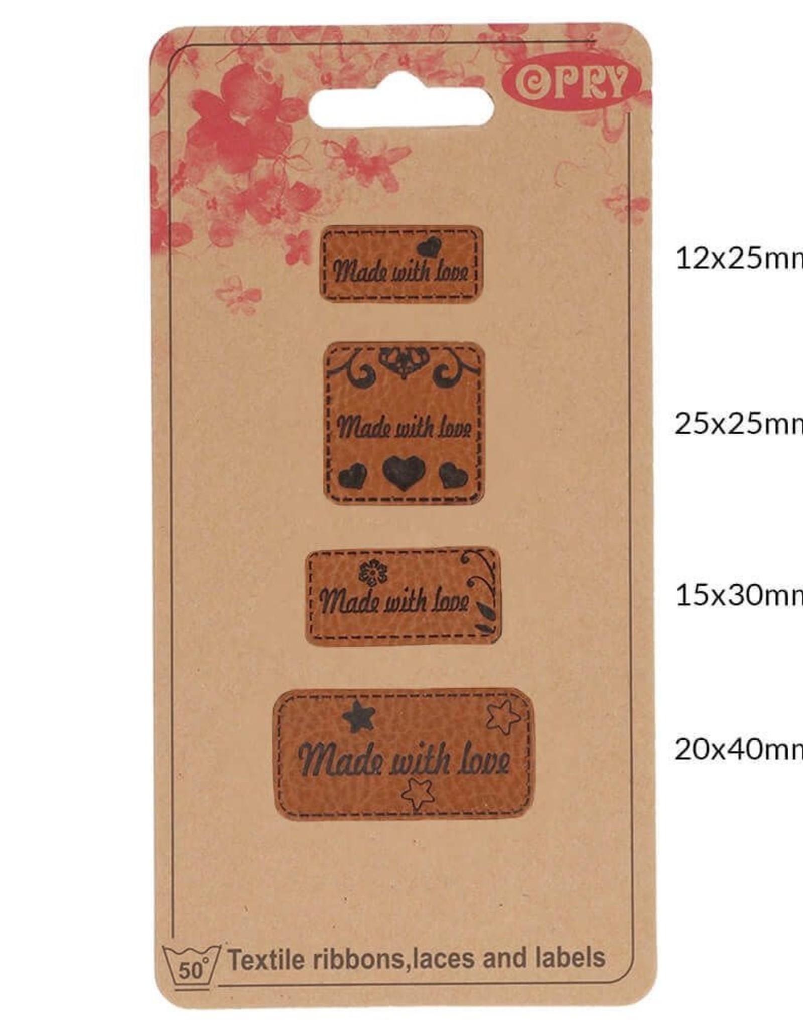 Label Skai leren made with love