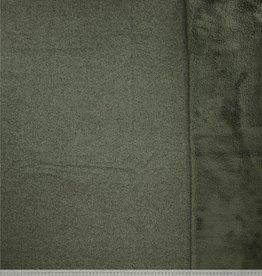 Polytex Polytex  gebreide stof met fleece aan binnenkant groen