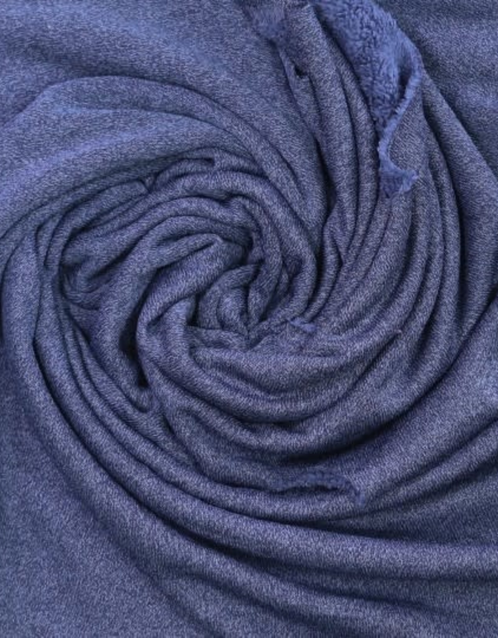 Polytex Polytex  gebreide stof met fleece aan binnenkant blauw