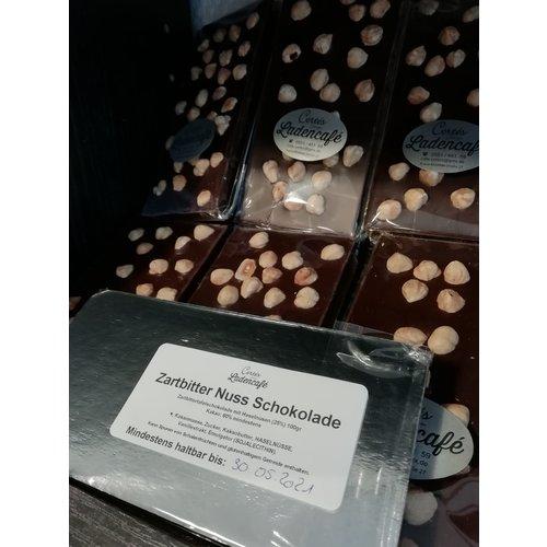 Tafel Schokolade Zartbitter mit Haselnüssen 100g