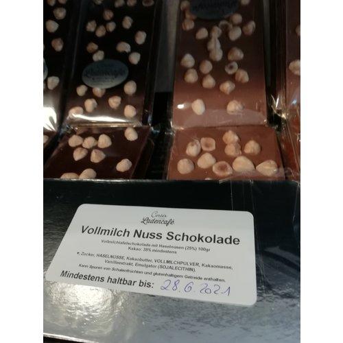 Tafel Schokolade Vollmilch mit Haselnüssen 100g