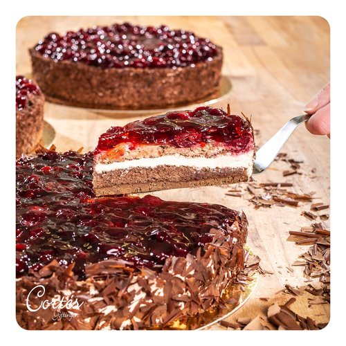 Kirsch Schoko Crisp Torte   Ø26cm   Ø18cm   Stück