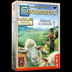 999 Games Carcassonne- Schapen & Heuvels uitbreiding