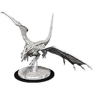 Wizk!ds Unpainted Miniatures - Young White Dragon