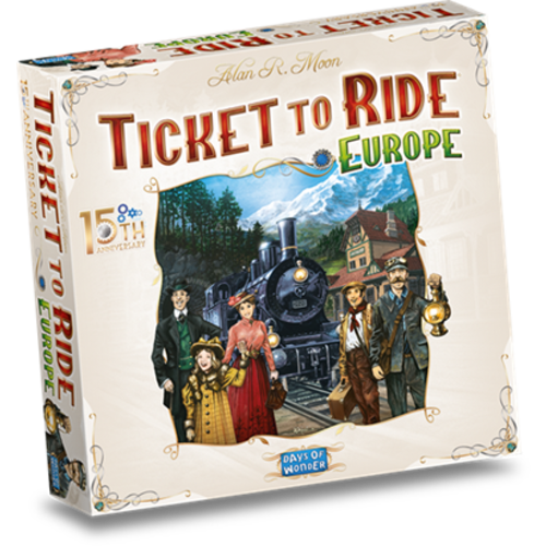 Days of Wonder PREORDER- Ticket to Ride NL- Europe 15th Anniversary (JUNI 2021)