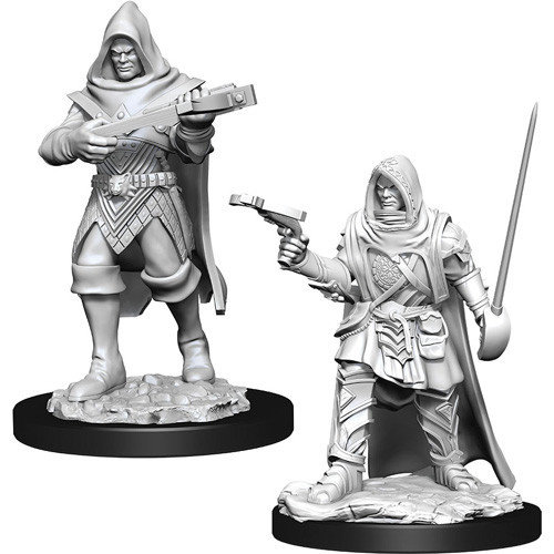 Wizk!ds Unpainted Miniatures- Human Rogue Male (PF)