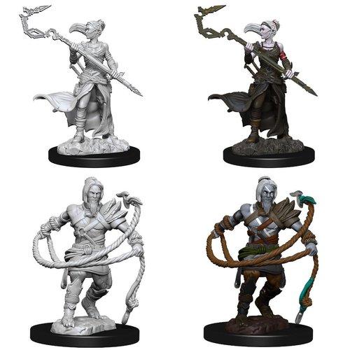 Wizk!ds Unpainted Miniatures- Stoneforge Mystic & Kor Hookmaster (Fighter Rogue Wizard) (MTG)