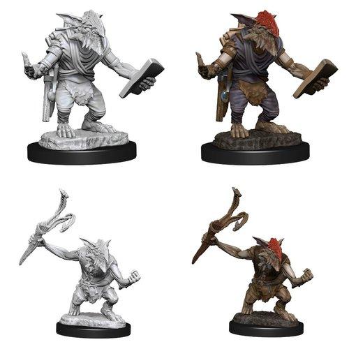 Wizk!ds Unpainted Miniatures- Goblin Guide & Goblin Bushwacker  (MTG)